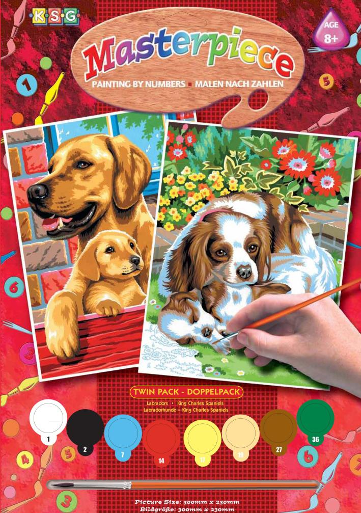 НАБОР ДЛЯ ТВОРЧЕСТВА SEQUIN ART PAINTING BY NUMBERS JUNIOR-PAIRS DOGS SA0214