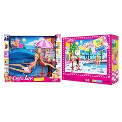Кукла Defa Lucy 8255 с бассейном