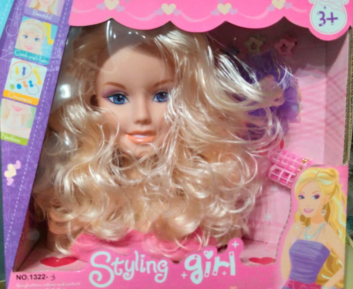Кукла манекен голова для причёсок и макияжа 1322 3 вида