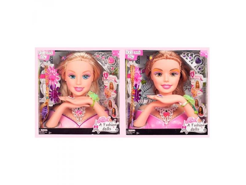 Кукла голова манекен для причёсок и маникюра 83267 28см