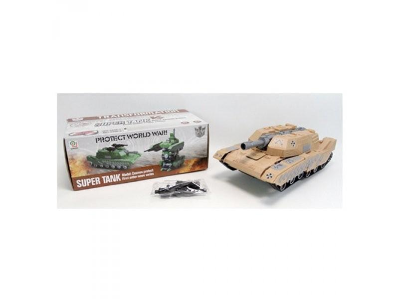 Трансформер 31 см, робот+танк, звук(англ),свет,