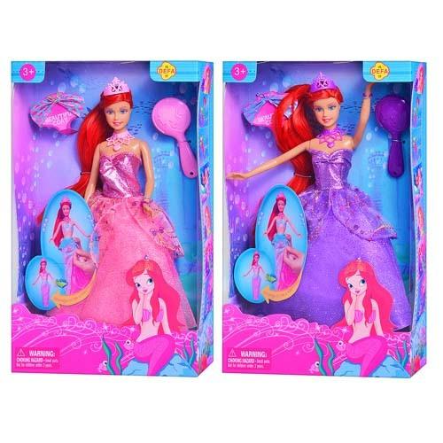 КУКЛА DEFA 8188 русалка принцесса с аксессуарами