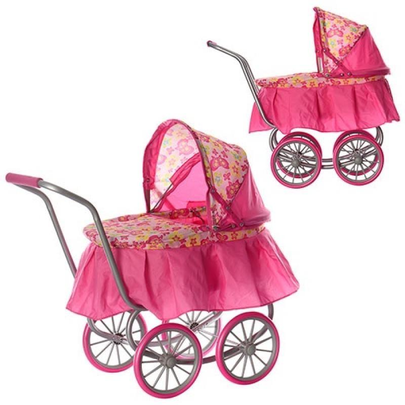 Коляска 9678  для куклы,классика, жел колеса
