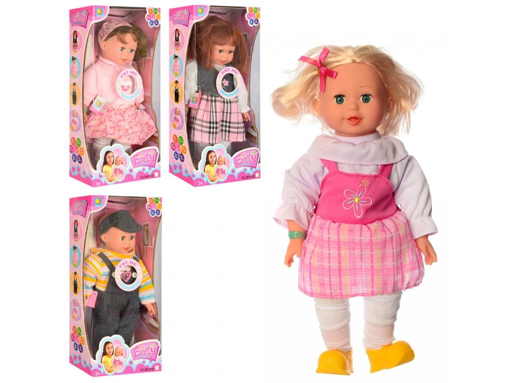 Кукла XMY 8169 мягконабивная озвученная Эмили