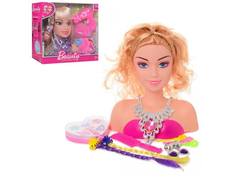 Кукла манекен голова для причёсок и макияжа 2 вида