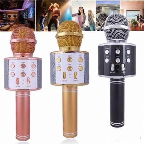 Микрофон WS-858 караоке  беспроводной