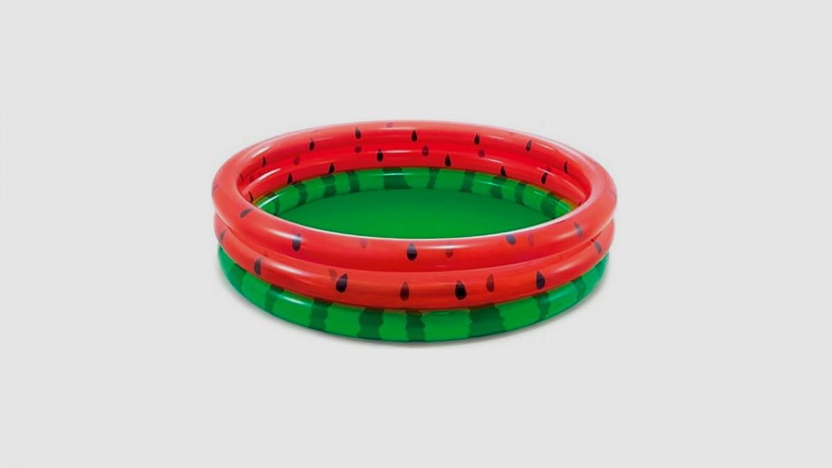 """Бассейн """"Арбуз"""" 3 кольца, от 2 лет, диаметр 168см, высота 38см"""