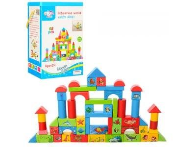 Деревянная игрушка Городок MD 0657 68дет, в кор-ке,