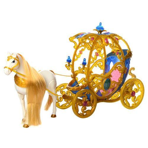 Карета 245A-266A с лошадью 54см (ходит), кукла 29см, звук,