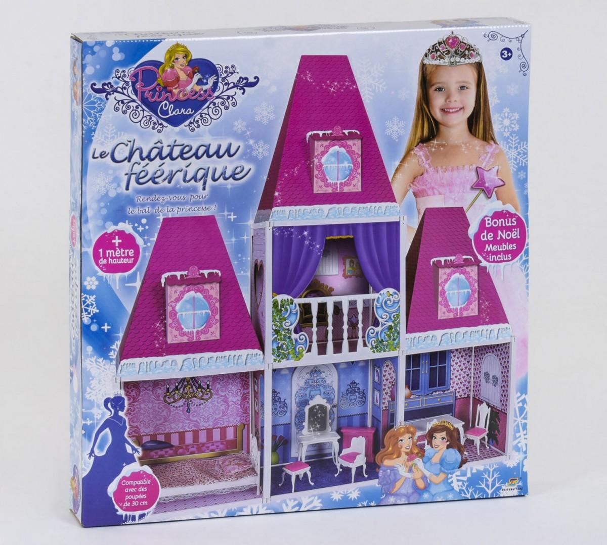 Домик кукольный 6990  2 этажа, 4 комнаты, мебель, высота 100 см