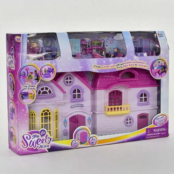 Дача  16428 большой кукольный домик, свет, звук