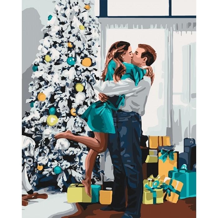 """Картина по номерам. """"Новогоднее настроение"""" 40*50см KHO46 37"""