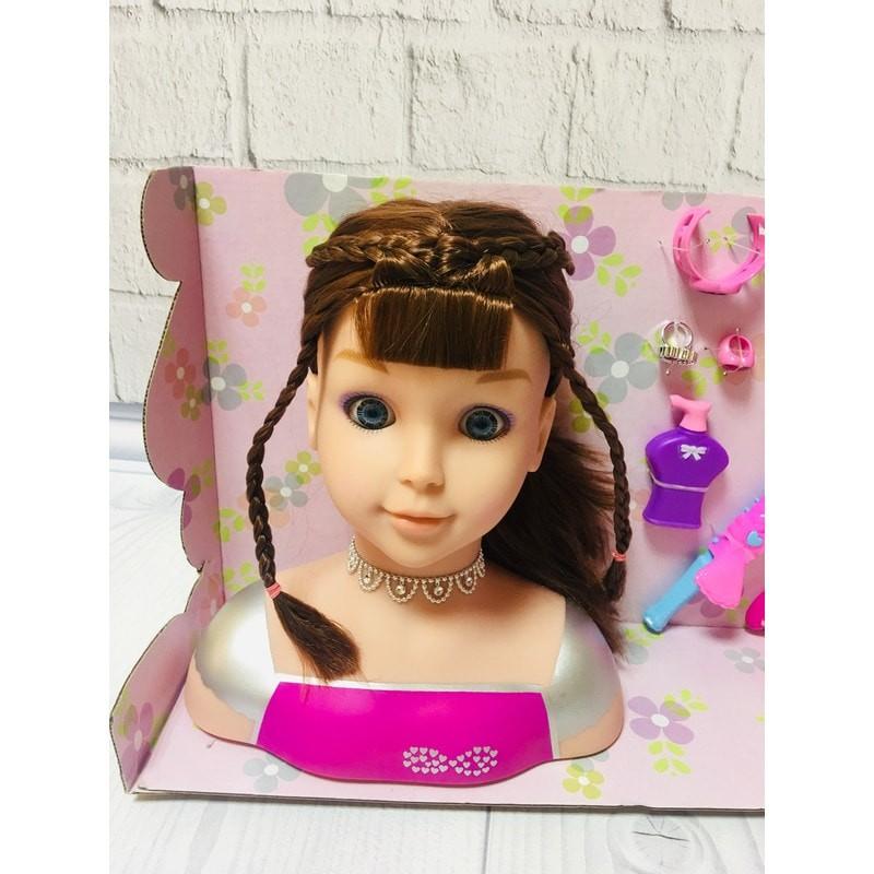 Кукла манекен голова для причёсок большая фен, плойка, расчёска