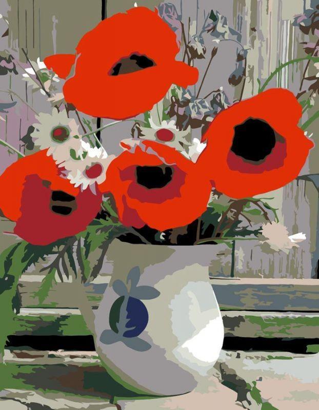 """Картина по номерам. Rosa """"Полевые цветы"""" 35х45см N00013284"""