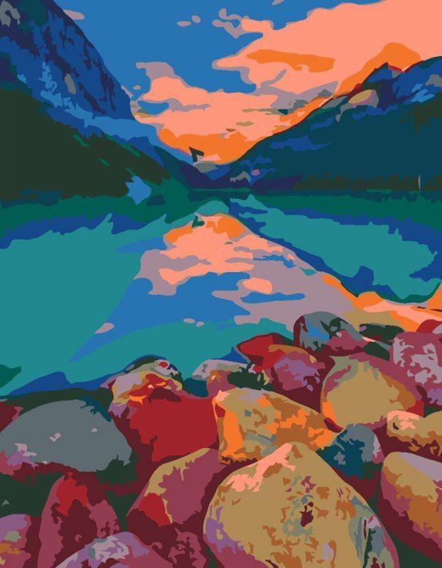 """Картина по номерам. Rosa """"Озеро Луиза, Канада"""" 35х45см N00013334"""