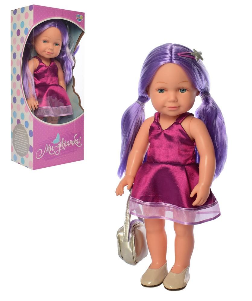 Кукла M 5407 обучающая 38 см, укр язык