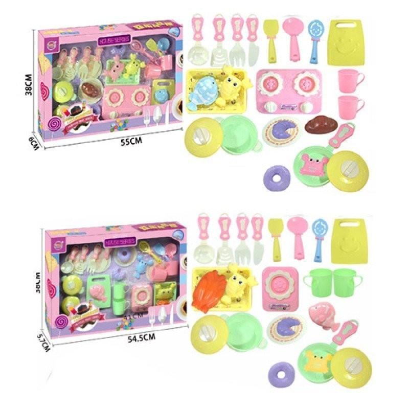 Набор детской посуды 6609A-B плита, продукты,