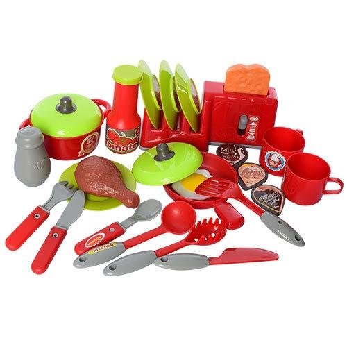 Кухня 008-908  с посудой, тостером, свет, звук