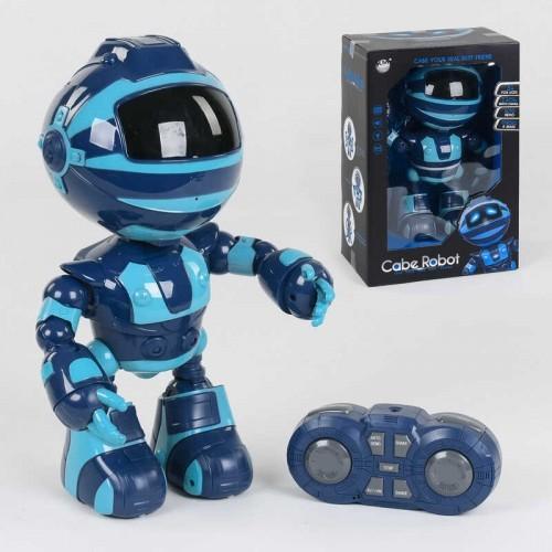 Робот  2028-80А цвет Синий, подсветка, музыка на р/у