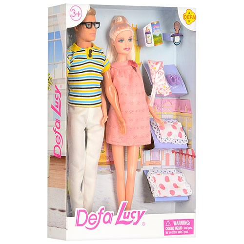 СЕМЬЯ DEFA 8349 игровой набор из 2 кукол